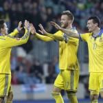 Сборная Украины разгромила команду Люксембурга
