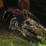 В автокатастрофе сгорели трое люди