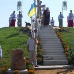 В Горькой Полонци освятили крест на казацкой могиле